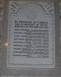 Image for Combined Memorial Tablets, St Michael's & All Angels Church, Hubberholme, N Yorks, UK