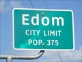 Image for Edom, TX - Population 375