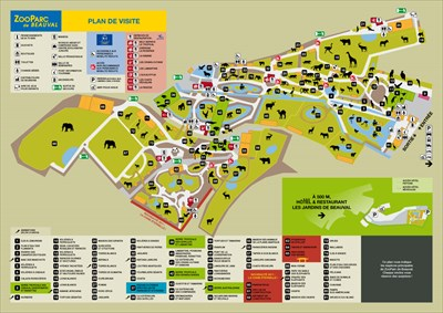 Map Of Zoos In France.Zooparc De Beauval Centre France Zoos On Waymarking Com