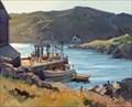 Image for Monhegan Pier, 1959 by Paul Strisik - Monhegan Island, Maine, USA