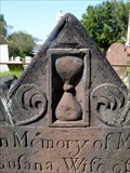 Image for Susana Kent Gravestone Hourglass - Old Center Cemetery - Suffield, CT, USA