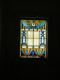 Image for Richardson Mausoleum Stained Glass - Mount Mora Cemetery - St. Joseph, Mo.
