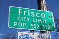 Image for Frisco, TX - Population 152,710