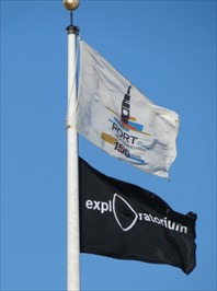 Exploratorium Flag & San Francisco Port Anniv Flag, San Francisco, CA