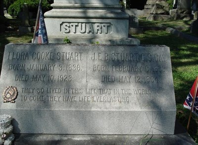 Jeb and his wife rest in Richmond's Hollywood Cemetery