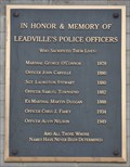 Image for In Honor and Memory of Leadville's Police Officers
