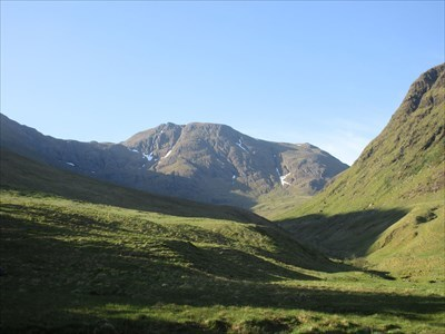 Viewed from the north at the end of Gleann Leac na Muidhe
