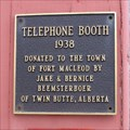 Image for Telephone Booth - 1938 - Fort Macleod, Alberta