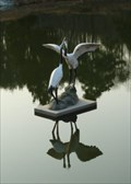Image for Two Cranes, Cheonan Memorial Park  -  Cheonan, Korea