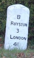 Image for Milestone - A1198, Old North Road, Kneesworth, Cambridgeshire, UK.