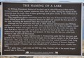 Image for The Naming of a Lake