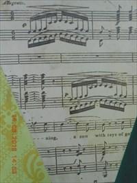Photo gros plan sur la partie partition musical.  Photo close-up of the musical partition play.