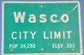 Image for Wasco ~ Elevation 333