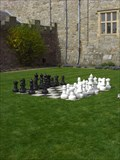 Image for Chess set, The Gardens, Chirk Castle, Chirk, Wrexham, Wales, UK