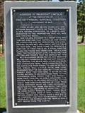 Image for Gettysburg Address by Abraham Lincoln, Ft. Logan National Cemetery - Denver, CO