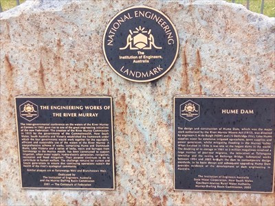 The boulder and Engineering Marker(s). 1510 Monday, 31 December, 2018