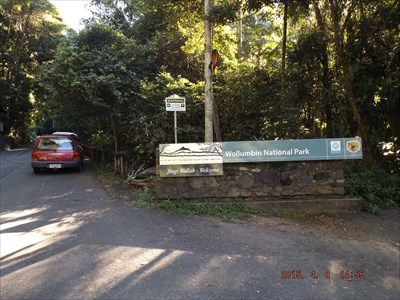 Car Park, entrance for the 4.4 km UPHILL walk.