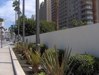 Sidewalk view of plaque.