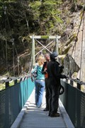 Image for Blue Pools Swinging Bridge - Mount Aspiring National Park, South Island, New Zealand