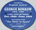 Image for George Borrow - Trafalgar Road, Great Yarmouth, UK