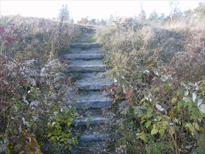 These are old steps up to a part of the battery.