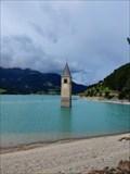 Image for Turm der ehemaligen Pfarrkirche von Alt-Graun, Graun, Südtirol, Italien