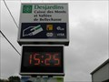 Image for Time and temperature signs - Desjardins Caisse des Monts et Vallées de Bellechasse