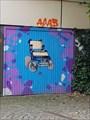 Image for Rollstuhl auf Garagentor - Osnabrück, NDW, Germany