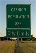 Image for Cashion, Oklahoma - Population 825