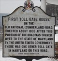 Image for FIRST - Toll Gate House on the Old National Highway - La Vale, MD