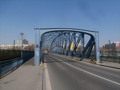Blue bridge, Prague-Vrsovice,