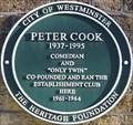 Image for Peter Cook Green Plaque - Greek Street, London, UK