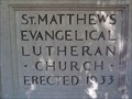 Image for 1933 - St. Matthew Evangelical Lutheran Church - York, PA