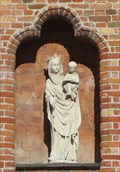 Image for Madonna and Child on Side of IBIS Hotel – Bruges, Belgium