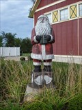 Image for Santa With Present - Silver Bells - Dundeen, MI