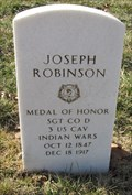 Image for 1SGT Joseph Robinson -- Fort Leavenworth National Cemetery, Fort Leavenworth KS