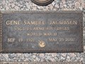 Image for Gene Samuel Jacobsen, grave - Bataan Survivor - Murray City, Utah