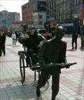 Image for Beijing Rickshaw Sit-by-me Statue