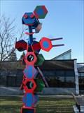 Image for Sculpture rouge, bleue, vert,- Fabreville-Laval-Québec