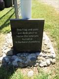 Image for St. Barbara Cemetery Flag Pole Marker - Salem, Oregon