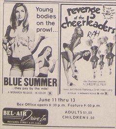 Like many other drive-ins, R rated movies were shown in the 1970's