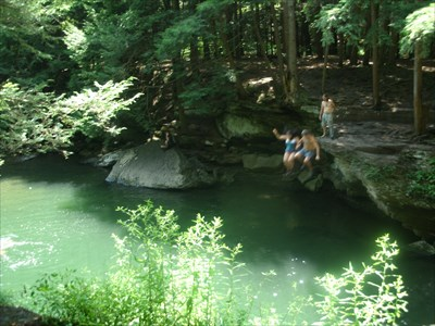 Little Falls - Stony Fork Creek - Swimming Holes on Waymarking com