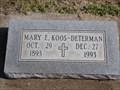 Image for 100 - Mary E. Koos-Determan - El Reno Cemetery - El Reno, OK