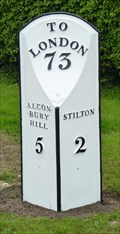 Image for Milestone  - Old Great North Road, Connington, Cambridgeshire, UK.