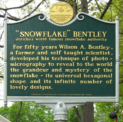 snowflake bentley jericho vermont historical markers on