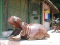 Image for Carved Wood Hippopotamus Sculpture - Kasane, Botswana