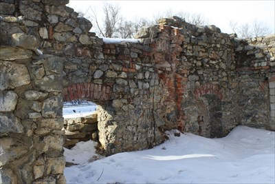 All that remains of the Dye House is the walls.