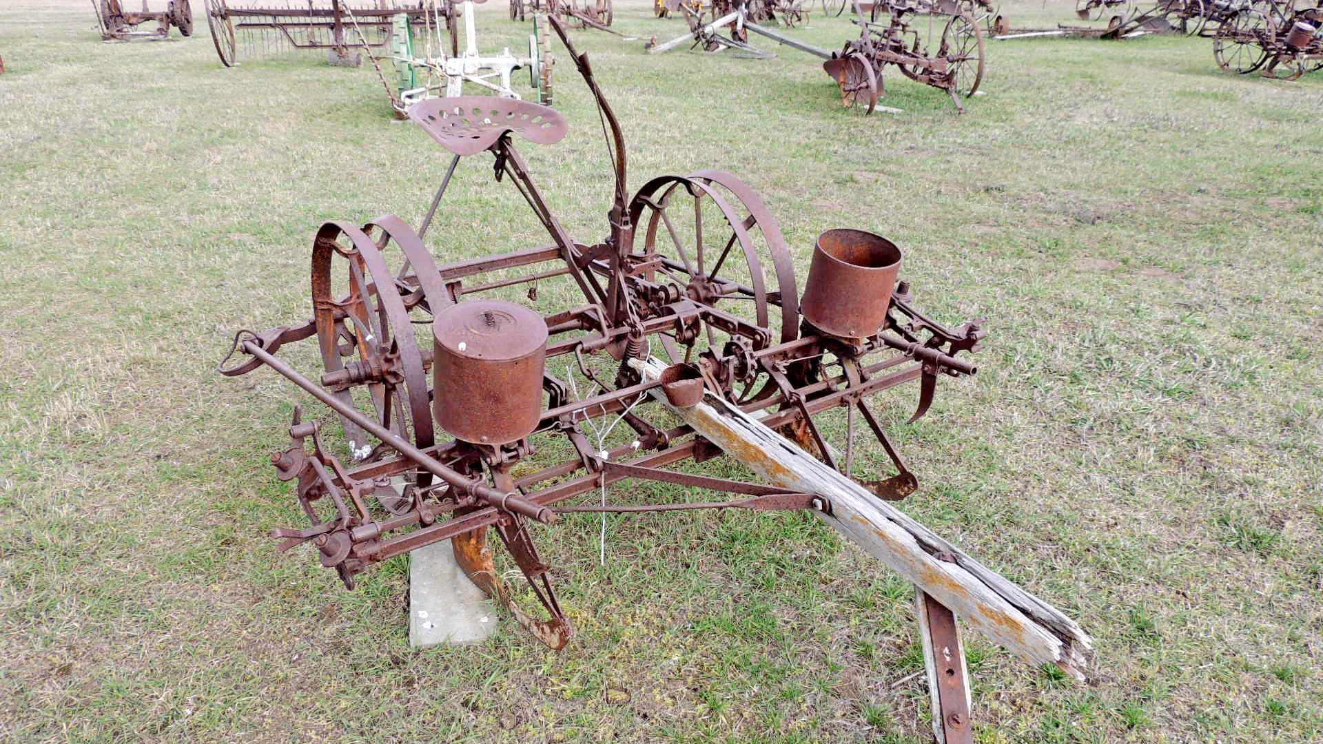 Corn Planter Ii Eureka Mt Old Agricultural Equipment On
