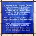 Image for World War II Firefighters - St Leonard's Street, London, UK