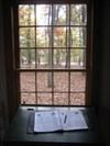 Where you can jot down your thoughts as you gaze out the window into the woods.